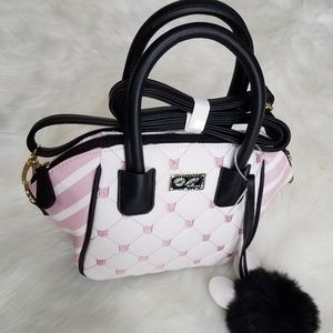 NWT Betsey Johnson Crossybody Satchel Purse Pink